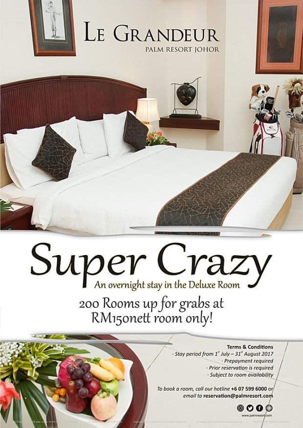Super Crazy is Back in Le Grandeur Palm Resort Johor from RM150
