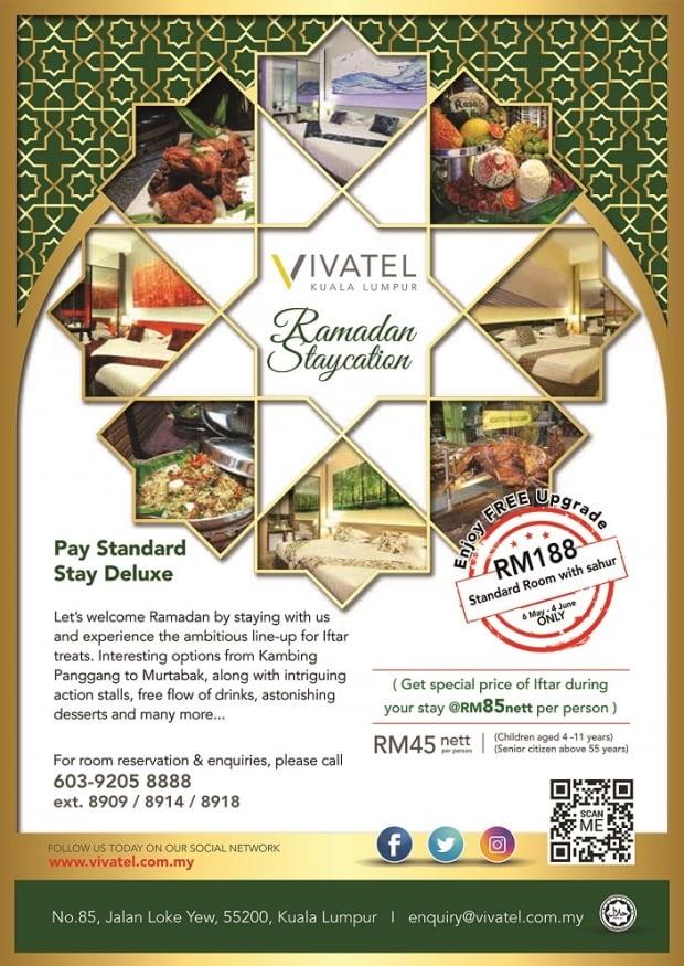 Ramadan Staycation at Vivatel Kuala Lumpur
