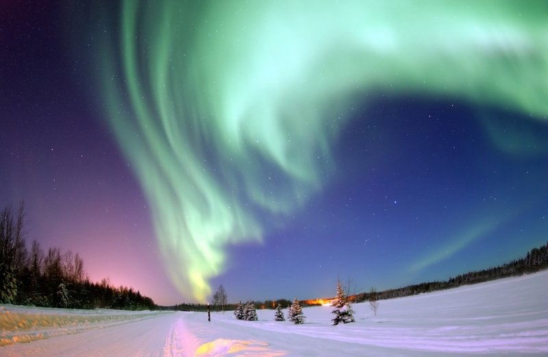 winter travel: northern lights
