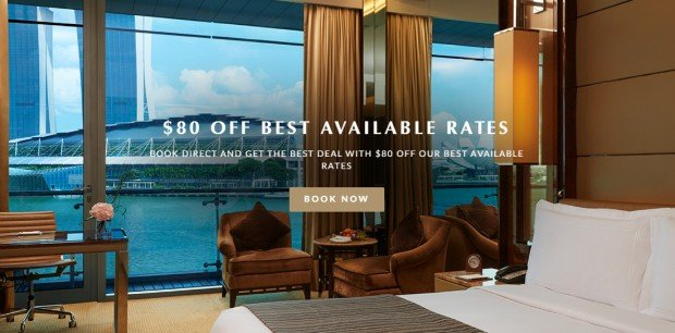 SGD80 Off Best Available Rate in The Fullerton Bay Hotel
