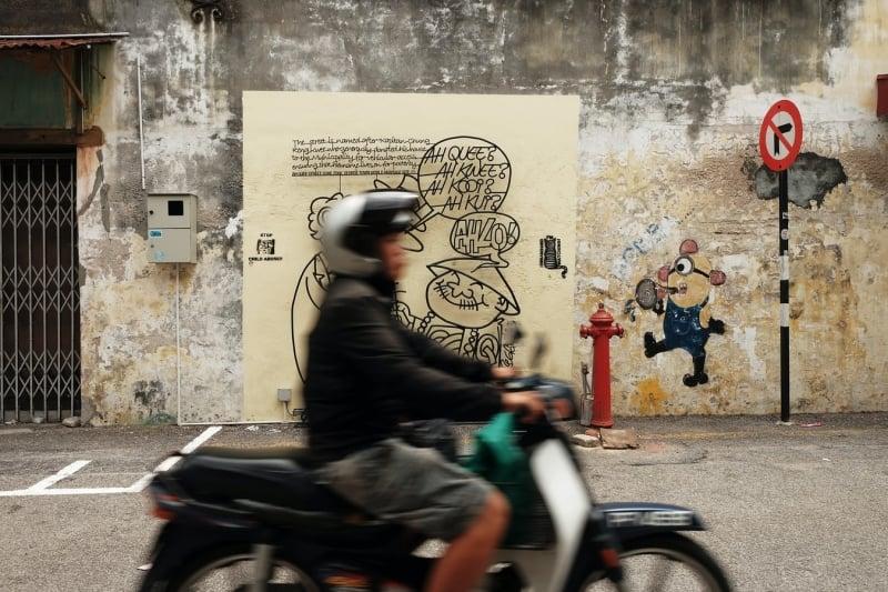 street murals of Penang