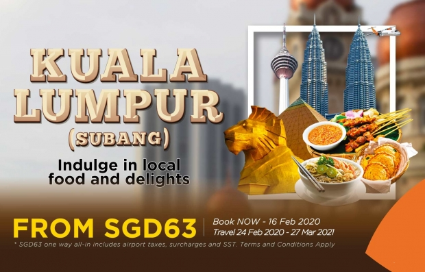 Fly to Kuala Lumpur with Firefly from SGD63