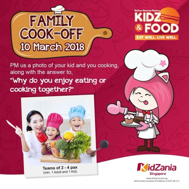 WIN Attraction Tickets with Family Cook-Off Special in KidZana Singapore