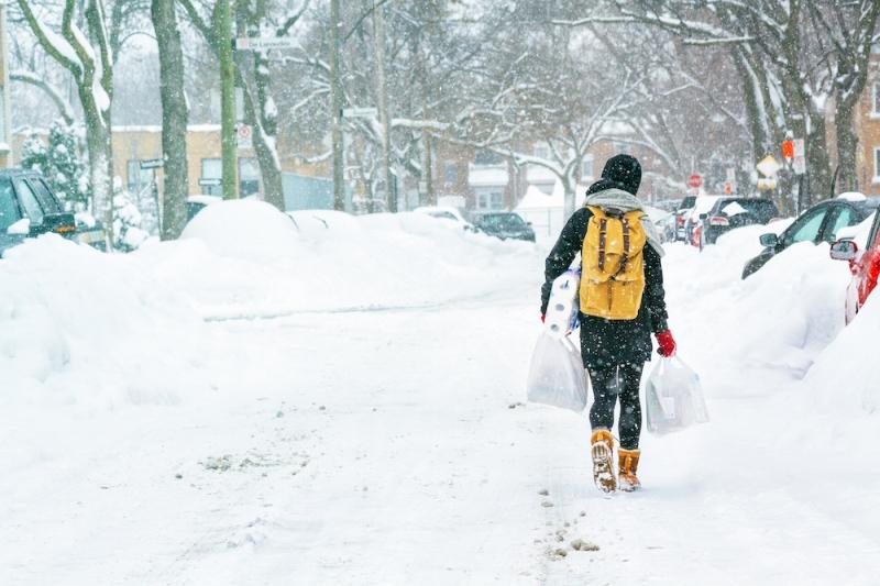 winter travel: snow
