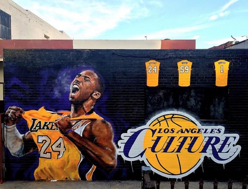 kobe bryant mural in la