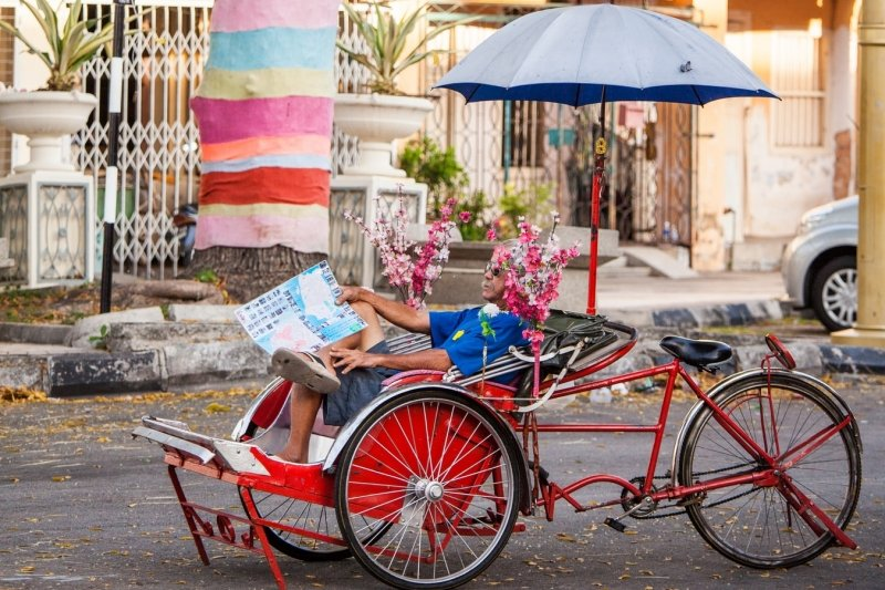 trishaw for a breezy tour of George Town