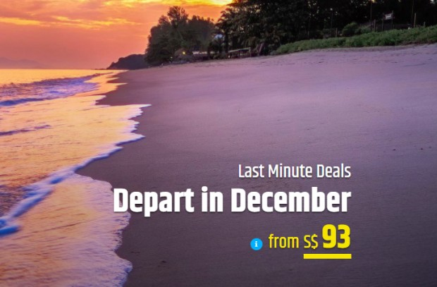 Last Minute Deals in CheapTickets.sg from SGD93 this December