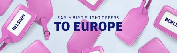 Early Bird Flight Offers to Europe with Finnair