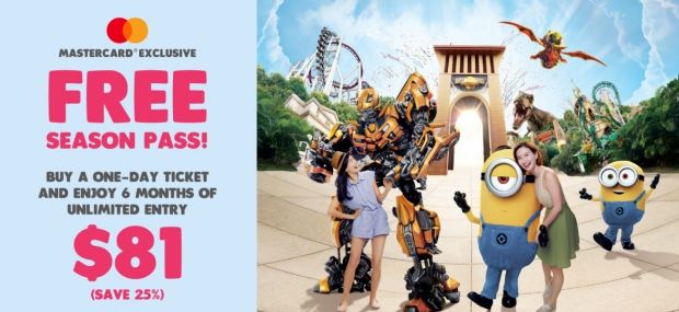 Mastercard® Exclusive: 6 Months Unlimited Entry to Resorts World Sentosa