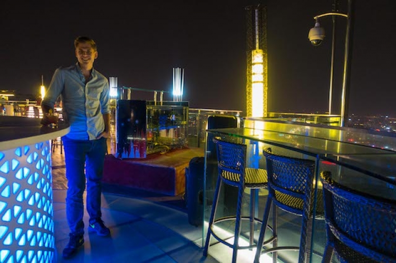 top of hanoi rooftop bar