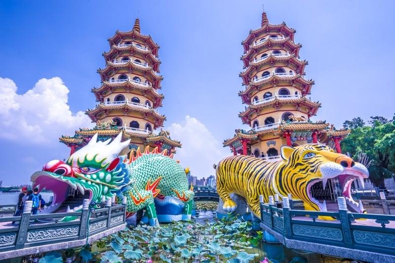 chơi gì ở Cao Hùng(Kaohsiung) Long Hổ Tháp