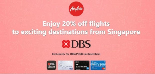 20% Savings on Flights in AirAsia with DBS Card