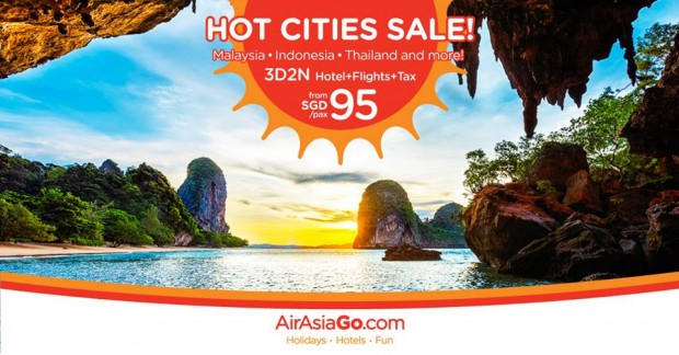Hot Cities on Sale from SGD95 with AirAsiaGo