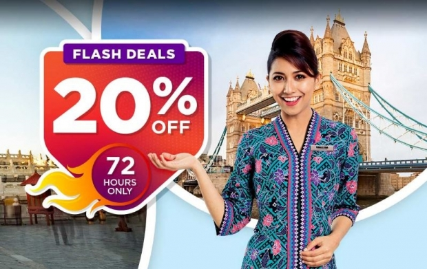 72 Hours Flash Sale. Enjoy up to 20% Savings with Malaysia Airlines