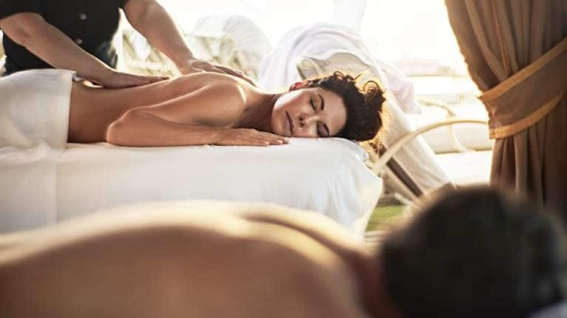 Open-air massage at the Sanctuary on Princess Cruises' ship