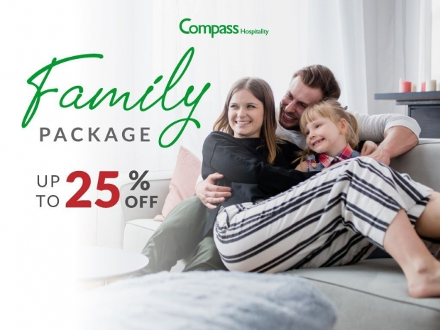 Family Room Package with Up to 25% Savings with Compass Hospitality