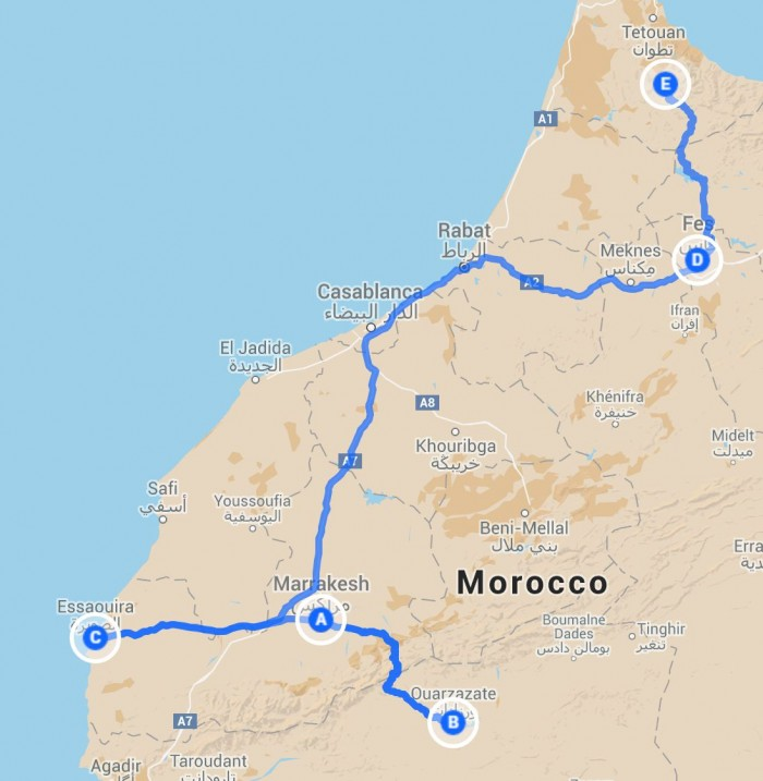 two week travel in morocco