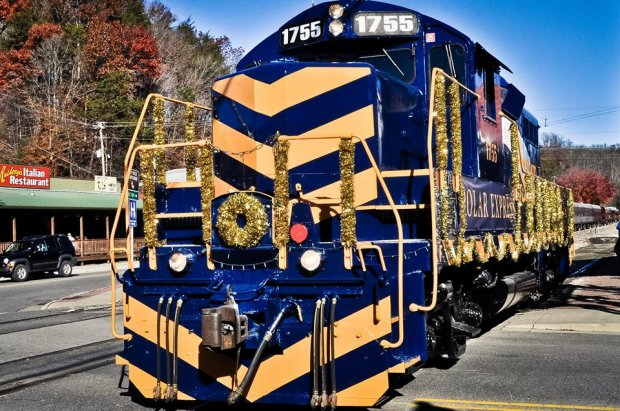 The Great Smoky Mountains Railroad offers scenic train excursions through the North Carolina mountains along Nantahala and Tuckasegee Rivers, across valleys and through tunnels.