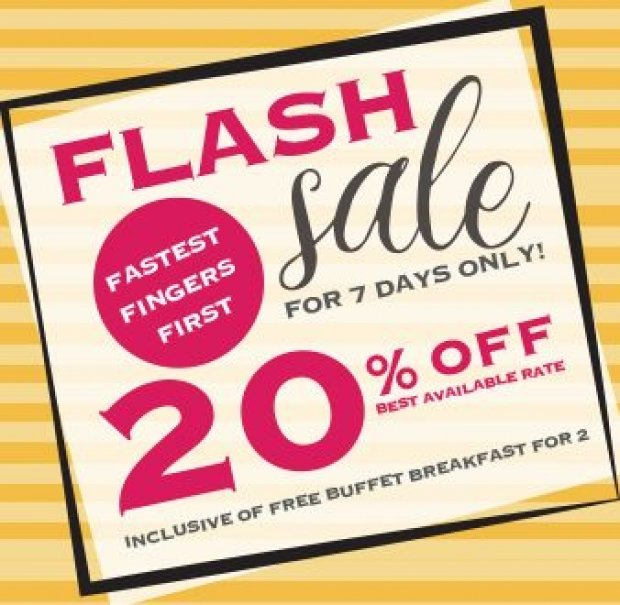 FLASH SALE | Enjoy 20% Off Best Available Rate in Royal Plaza on Scotts