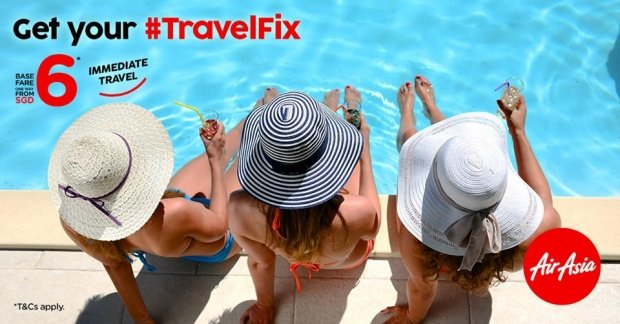 Get Your Travel Fix with Flights on AirAsia from SGD6