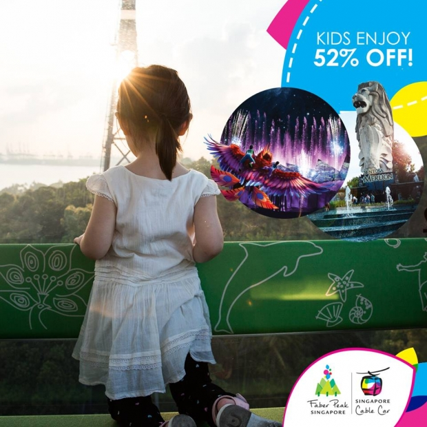 Kids Enjoy 52% Off Singapore Cable Car until September!