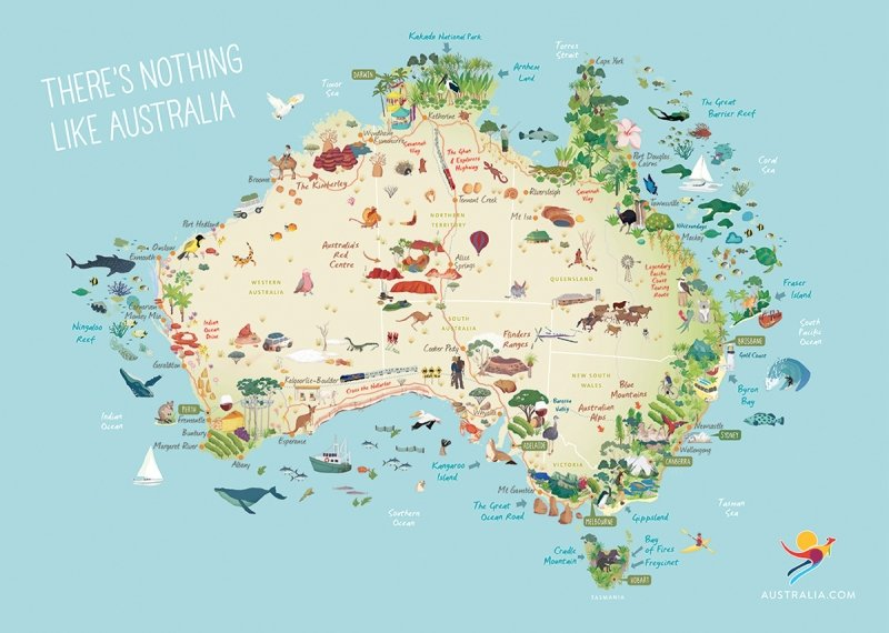 Australia Map And States.The One Thing You Didn T Know About Each Of Australia S 6 States And