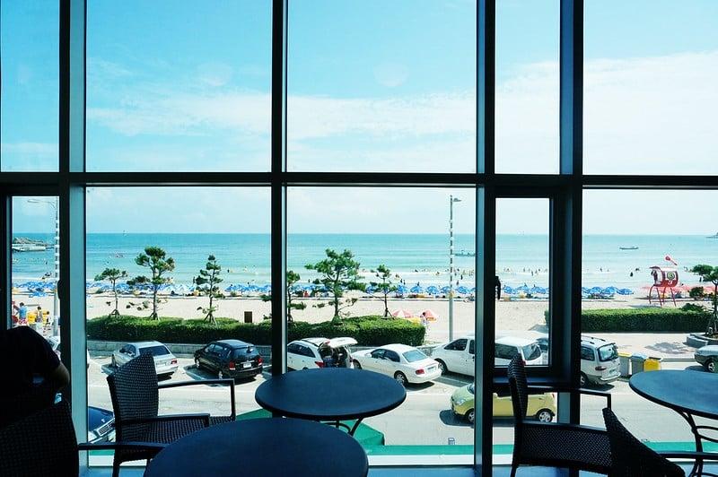View from Starbucks Busan Songdo Beach