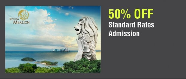 50% Off Standard Rate Admission in Sentosa Merlion with NTUC Card