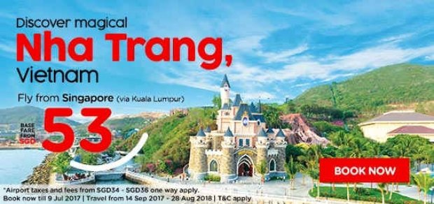 Discover Magical Nha Trang from SGD53 with AirAsia