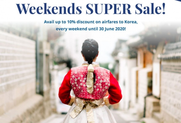 Weekends Super Sale in Korean Air with Up to 10% Savings