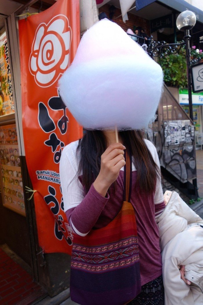 Giant candy floss