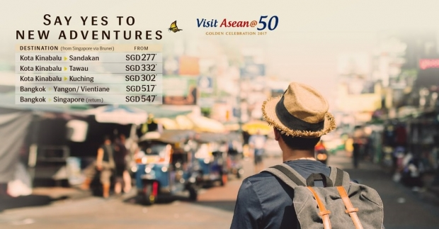 Visit Asean@50 Promotion in Royal Brunei Airlines from SGD277