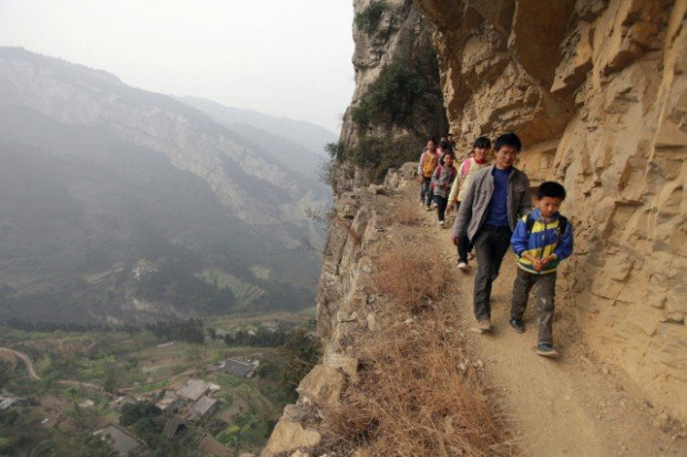 School Cliff Path, China