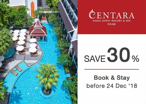 Year-end Vacation with up to 30% Off Stay at Centara Anda Dhevi Resort & Spa Krabi