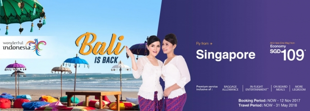 Bali is Back! Fly to Indonesia with Malindo Air from SGD109