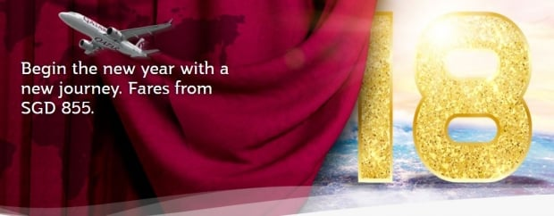 Begin the New Year with a New Journey | Fares from SGD855 on Qatar Airways