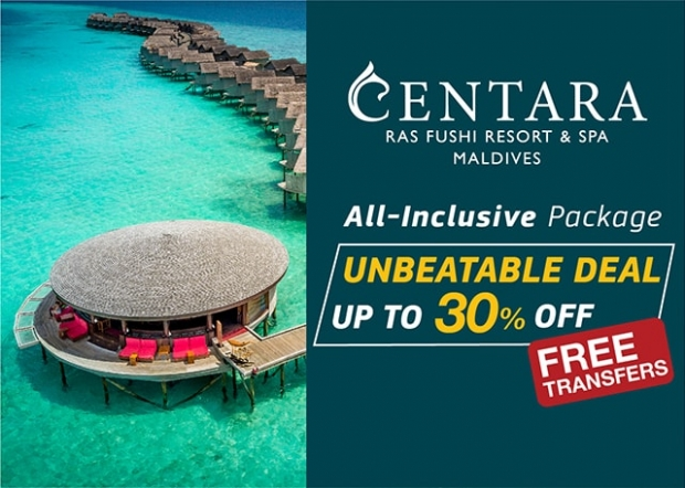 Paradise for up to 30% Less in Centara's Ras Fushi Resort & Spa