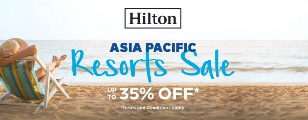 Up to 35% Off Room Rates in Participating Hilton Hotels in Asia Pacific