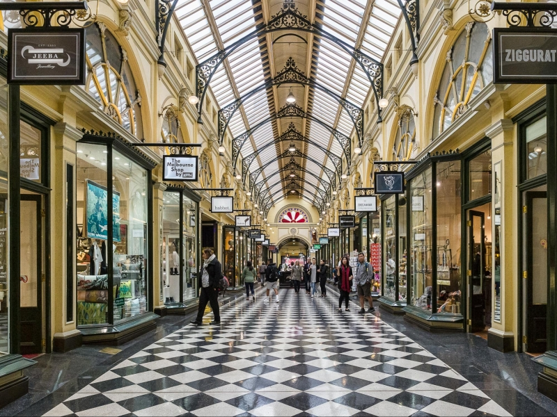 melbourne itinerary: block arcade