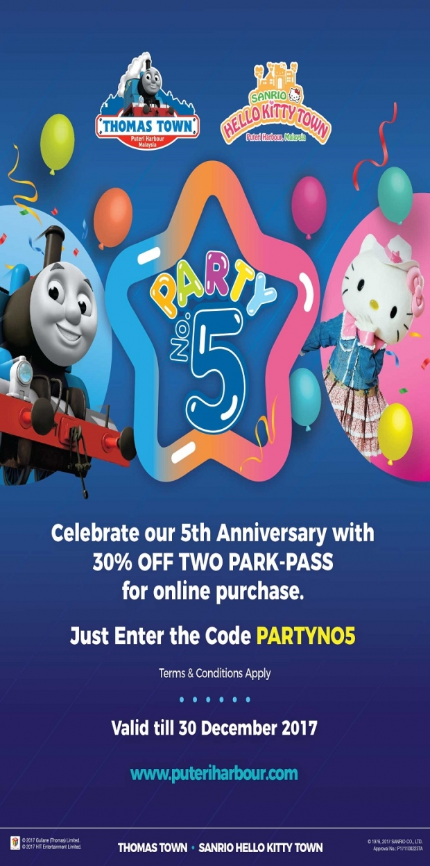 Enjoy 30% Off Admission Tickets to Puteri Harbour Theme Parks