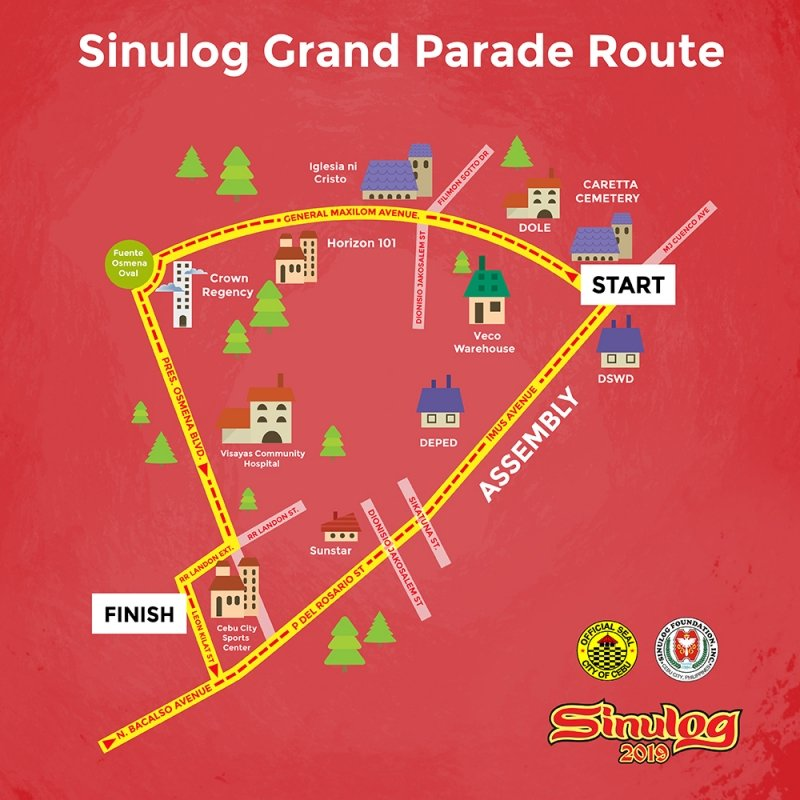 Sinulog grand parade route