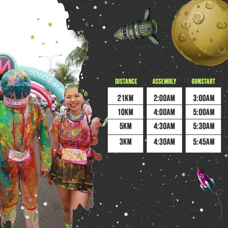 color manila run schedule