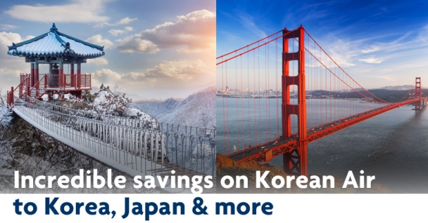 Up to 20% off Airfares for Flights to Korea, USA, Canada, Japan and China with United Overseas Bank