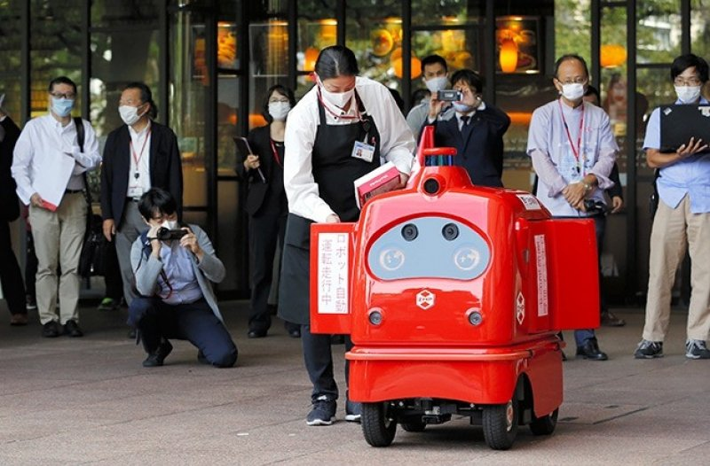 self-driving delivery robot Japan