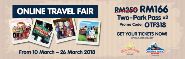 Online Travel Fair Special Rate in Puteri Harbour Attractions