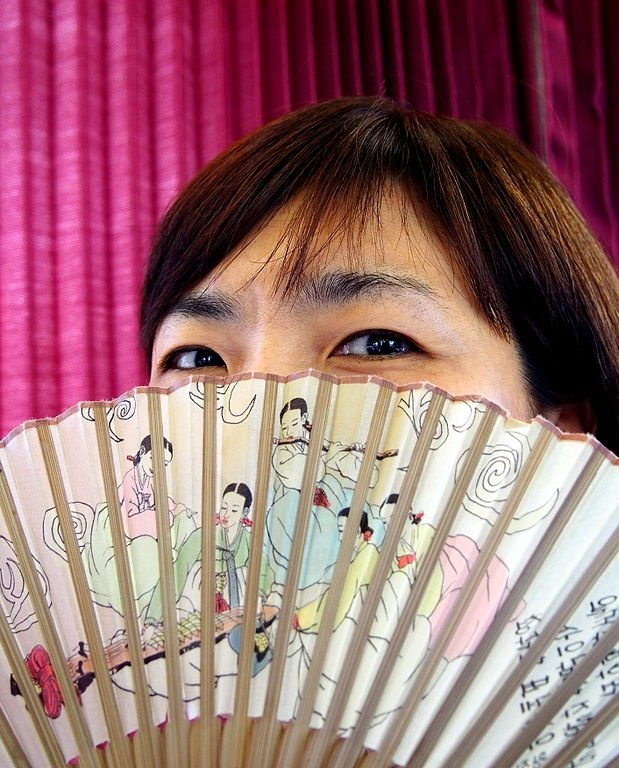 korean folding fan