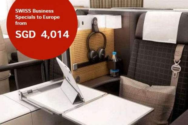 SWISS Business Specials to Europe from SGD 4,014