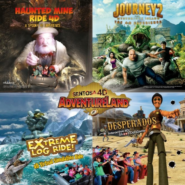 """""""4-in-1"""" Combo Child Admission Ticket in Sentosa 4D Adventureland with Maybank"""