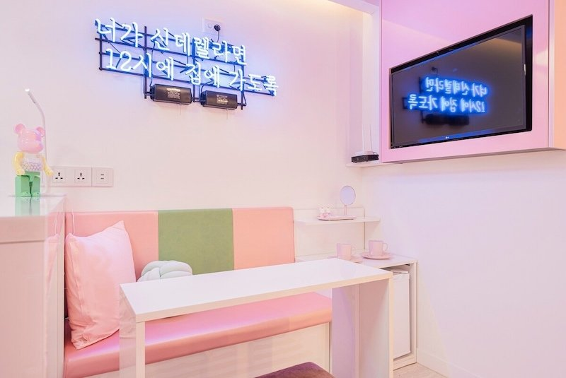 Pink and Chic Airbnb in Myeongdong