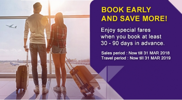 Book Early and Save more on Thai Airways Flights from Singapore